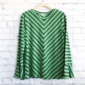 Crown & Ivy Imperial Garden Bell Sleeves Blouse